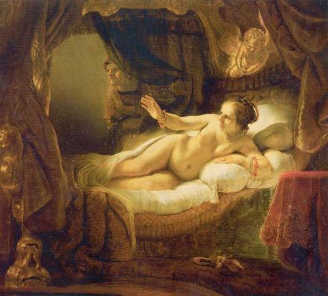 Самые известные картины в истории искусства - «Даная», Рембрандт